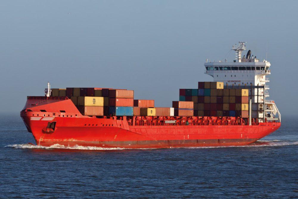De MV Escape voer dinsdag rondjes bij het Waddengebied. (Foto JR Shipping)