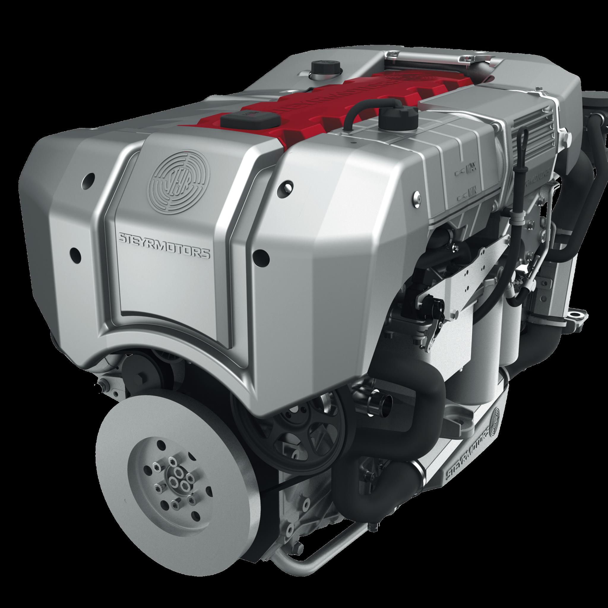 De Stage V gecertificeerde SE186E38 van Steyr Motors heeft een vermogen van 129 kW (175 pk) bij 3300 tot 3850 toeren. (Foto Padmos Industrial & Marine Motors)