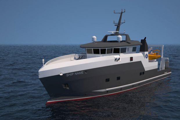 De opdracht voor de bouw van een nieuw onderzoeksschip voor het Noorse Havforskningsinstituttet aan de Holland Shipyards Group (HSG), heeft in Noorwegen voor politieke onrust gezorgd. (Beeld HSG)