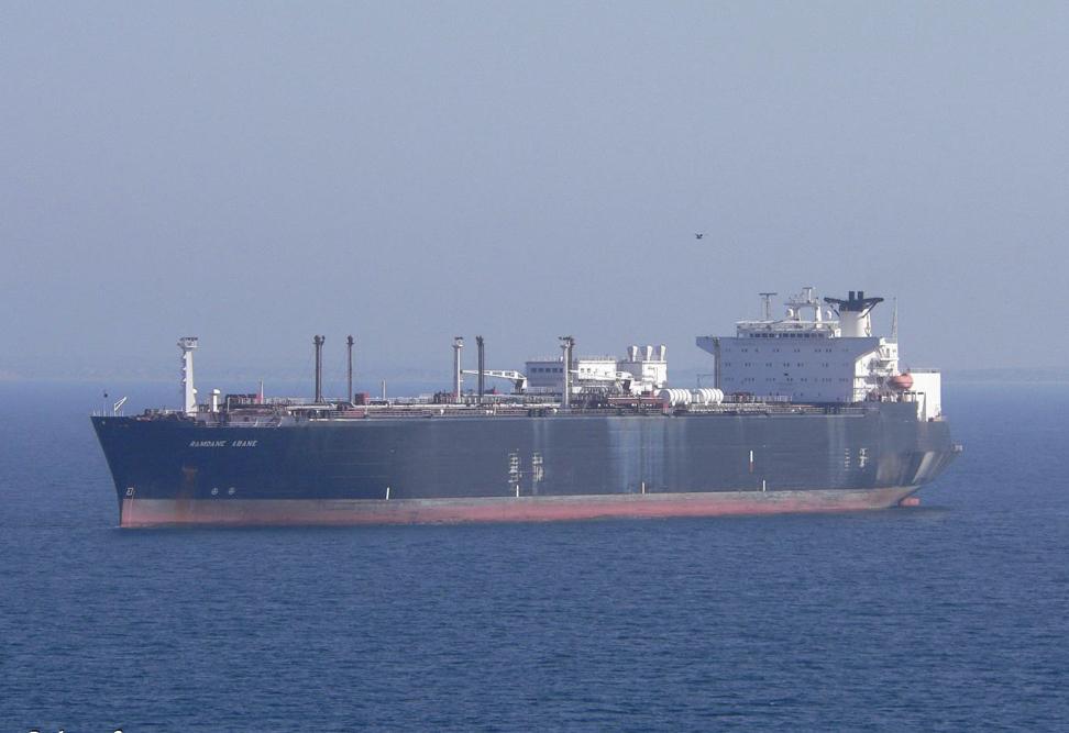 De 40 jaar oude tanker Ramdane Abane staat te koop.