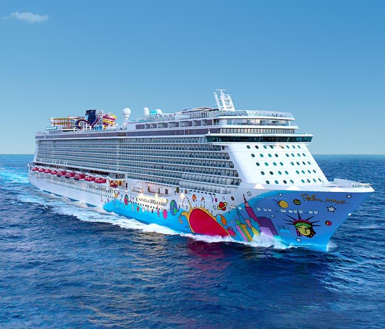 De Norwegian Breakaway van het in Miami gevestigde Norwegian Cruise Line (Foto NCL)
