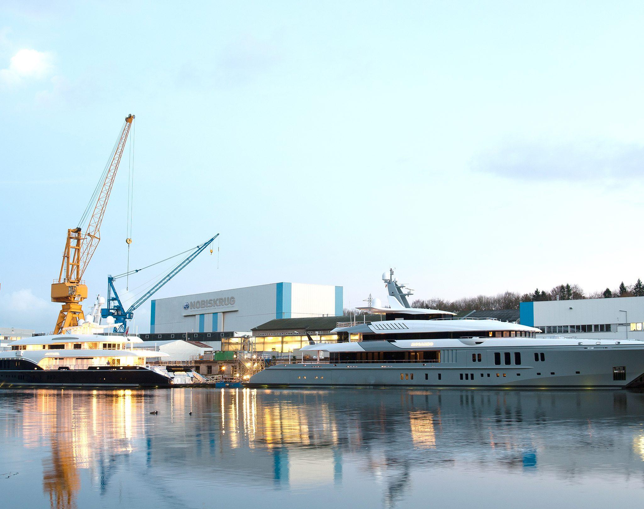 Nobiskrug is gespecialiseerd in het bouwen van superjachten. (Foto Nobiskrug)