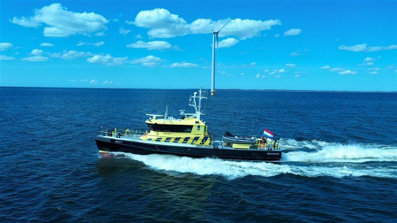 De RWS77 gaat semi-autonoom varen op het IJsselmeer. (Foto Seafar)