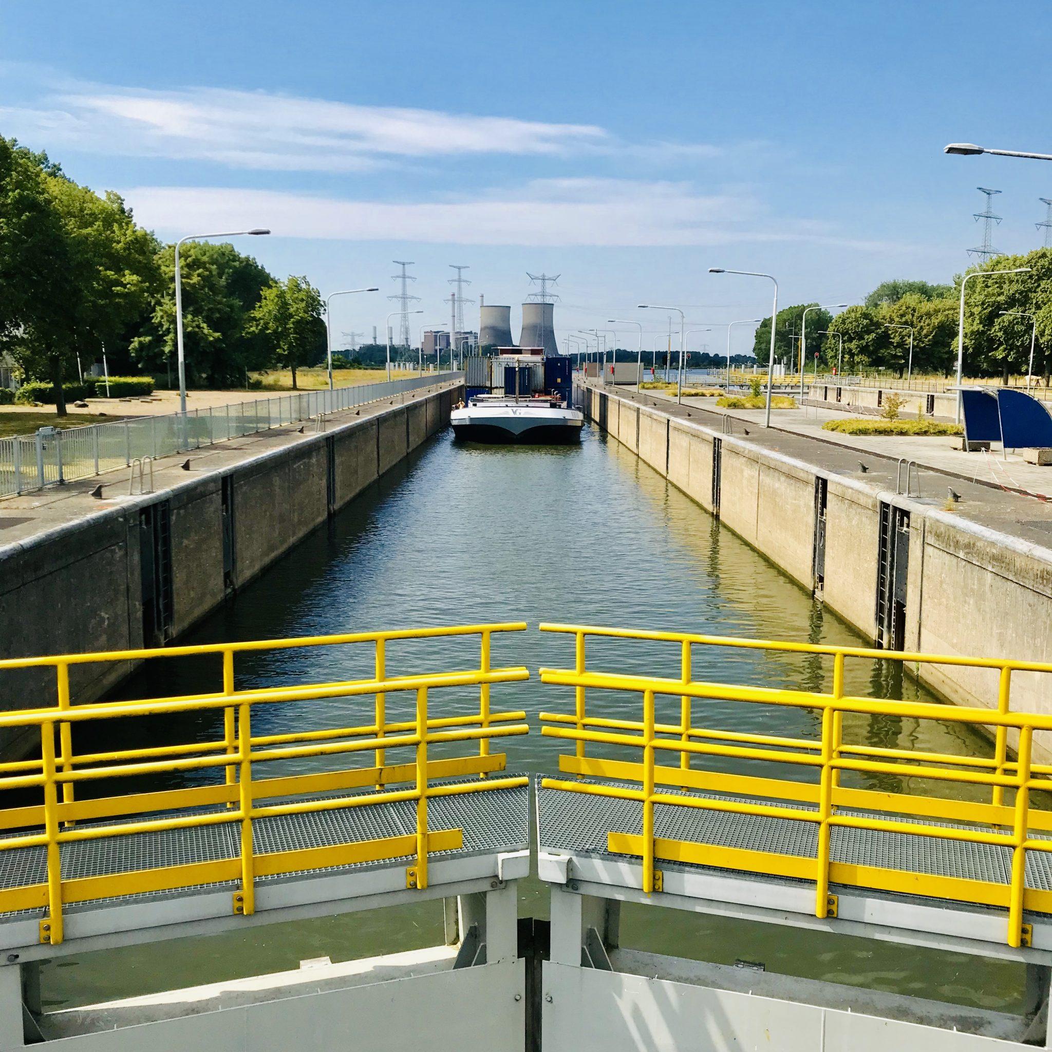 De Sluis in Heel wordt gebruikt om nieuwe systemen uit te testen (Foto Rijkswaterstaat)