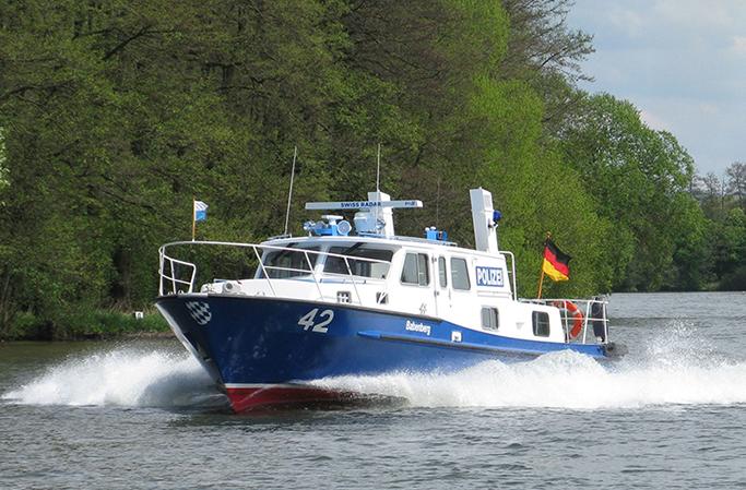 Patrouilleboot van de Wasserschutzpolizei in Beieren (Foto WSP)