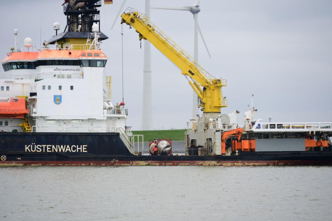 De geborgen container (Foto ProNews)