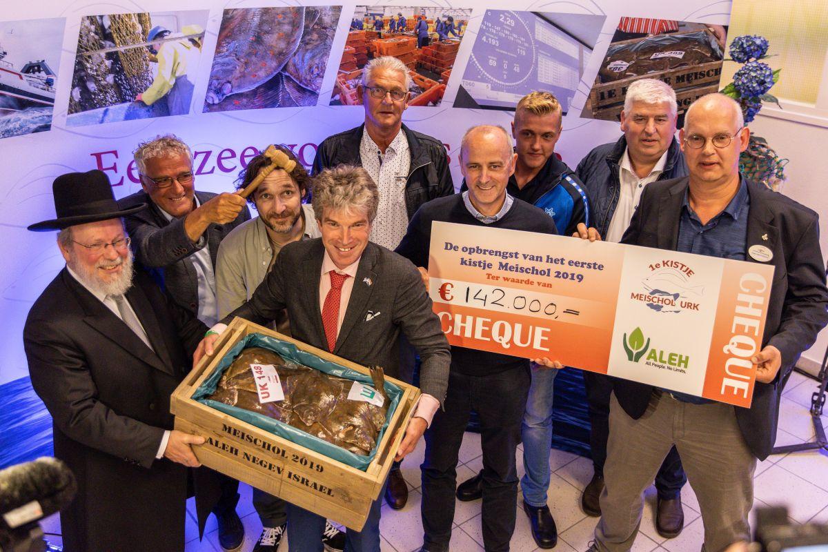 De veiling leverde in 2019 een recordbedrag op (Foto Stichting Visserijdagen Urk)