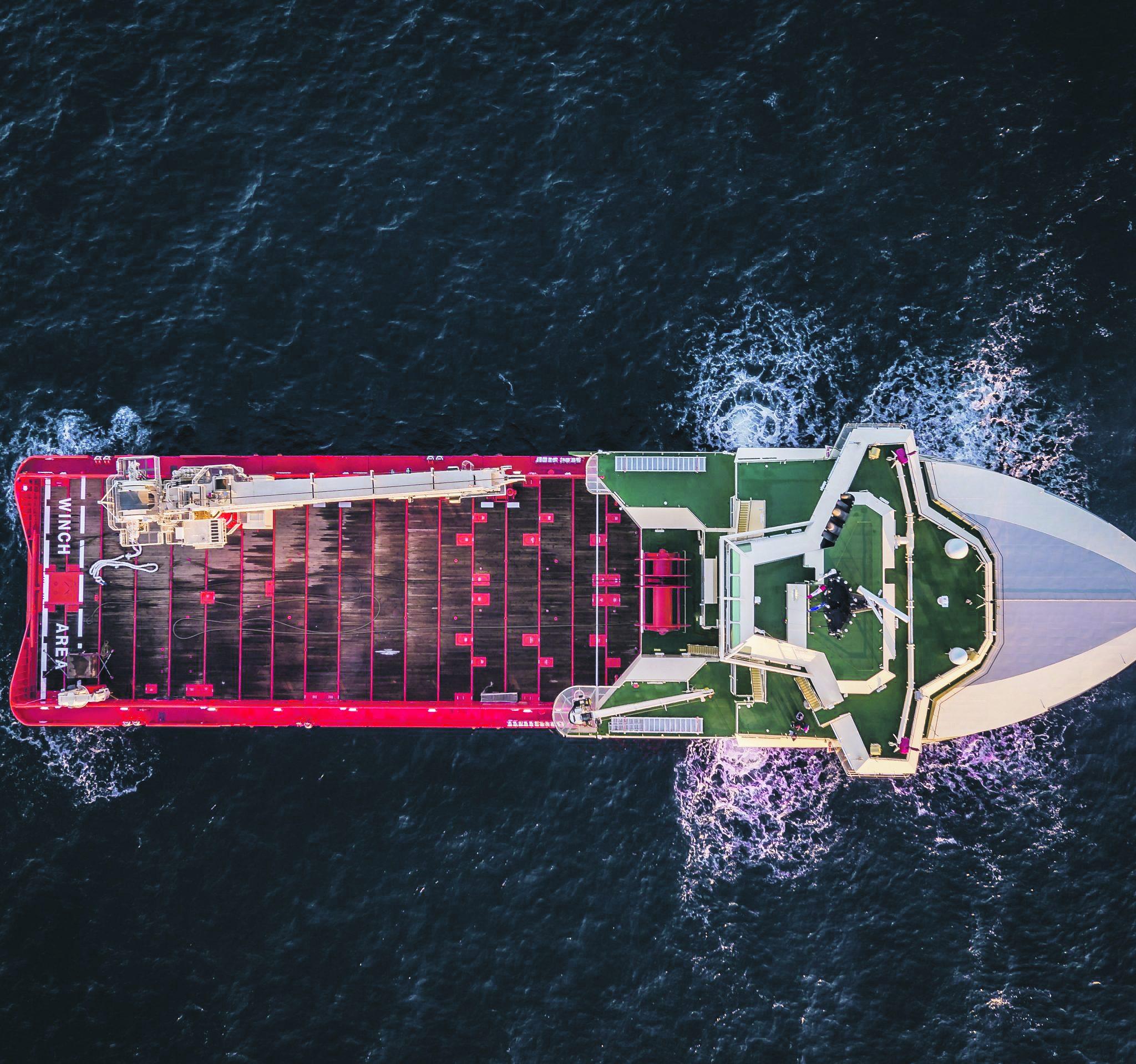 Met een goede dataset en een zogenoemde digitale tweeling wordt voorspelbaar hoe een schip onder elke omstandigheid beweegt. Foto Damen
