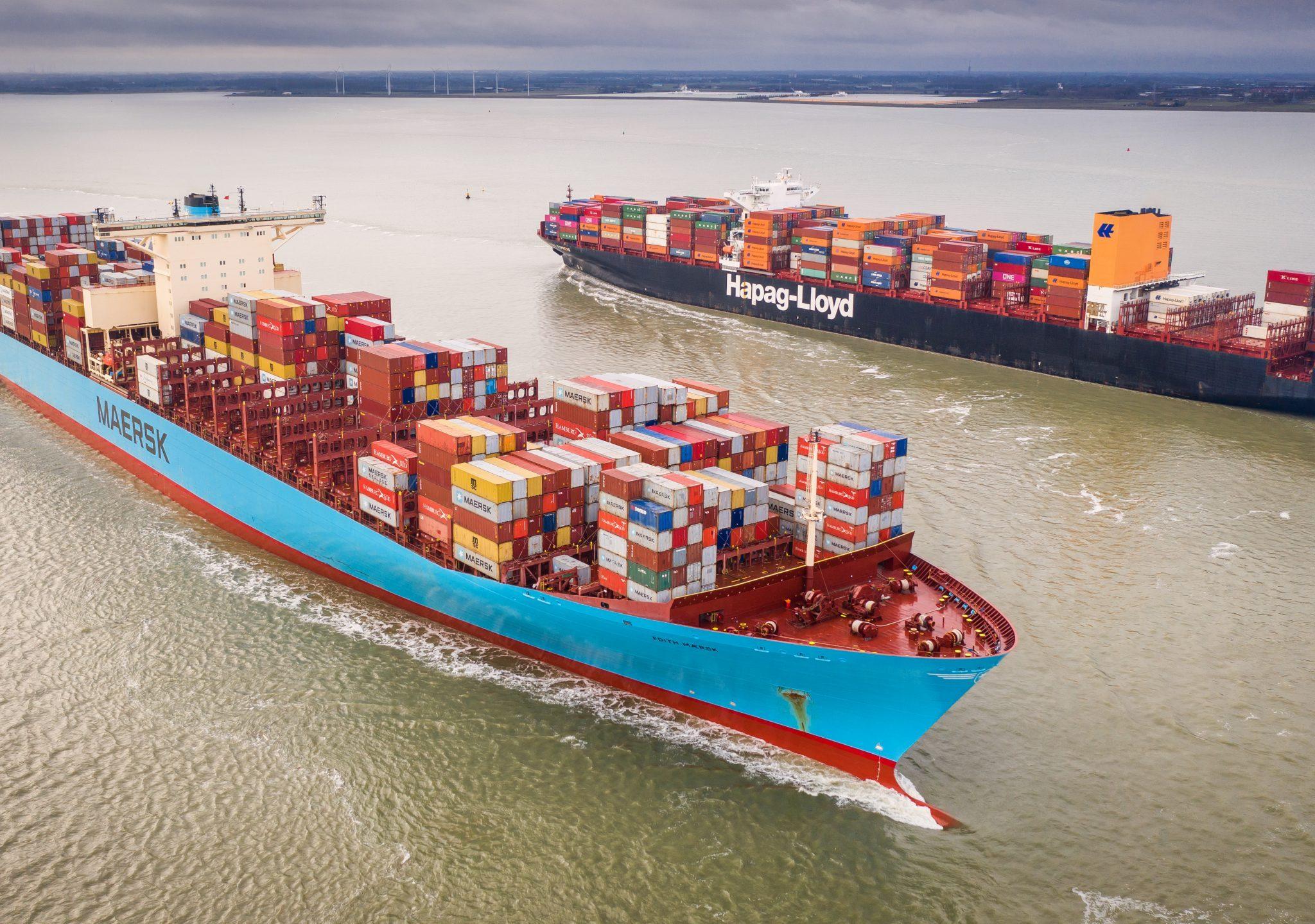 Zeescheepvaart moet gaan betalen voor hun broeikasgassen. (Foto ANP)