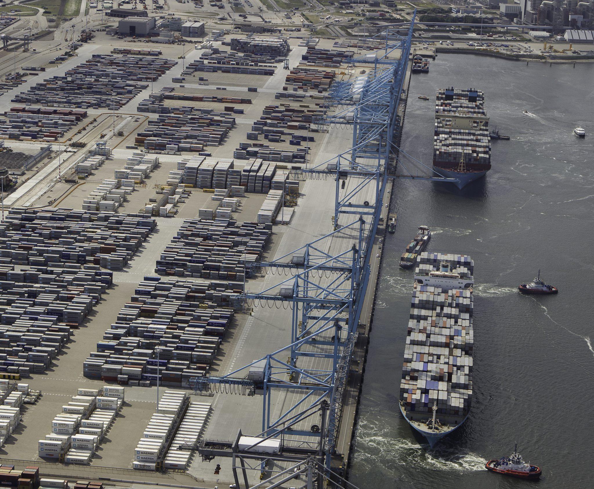 Hutchison is al eigenaar van de naastgelegen ECT Delta Terminal (Foto APM Terminals)