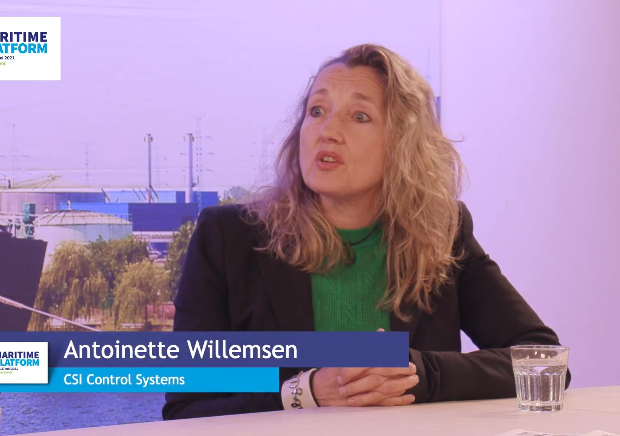 Antoinette Willemsen (CSI) was te gast bij Maritime Platform 2021