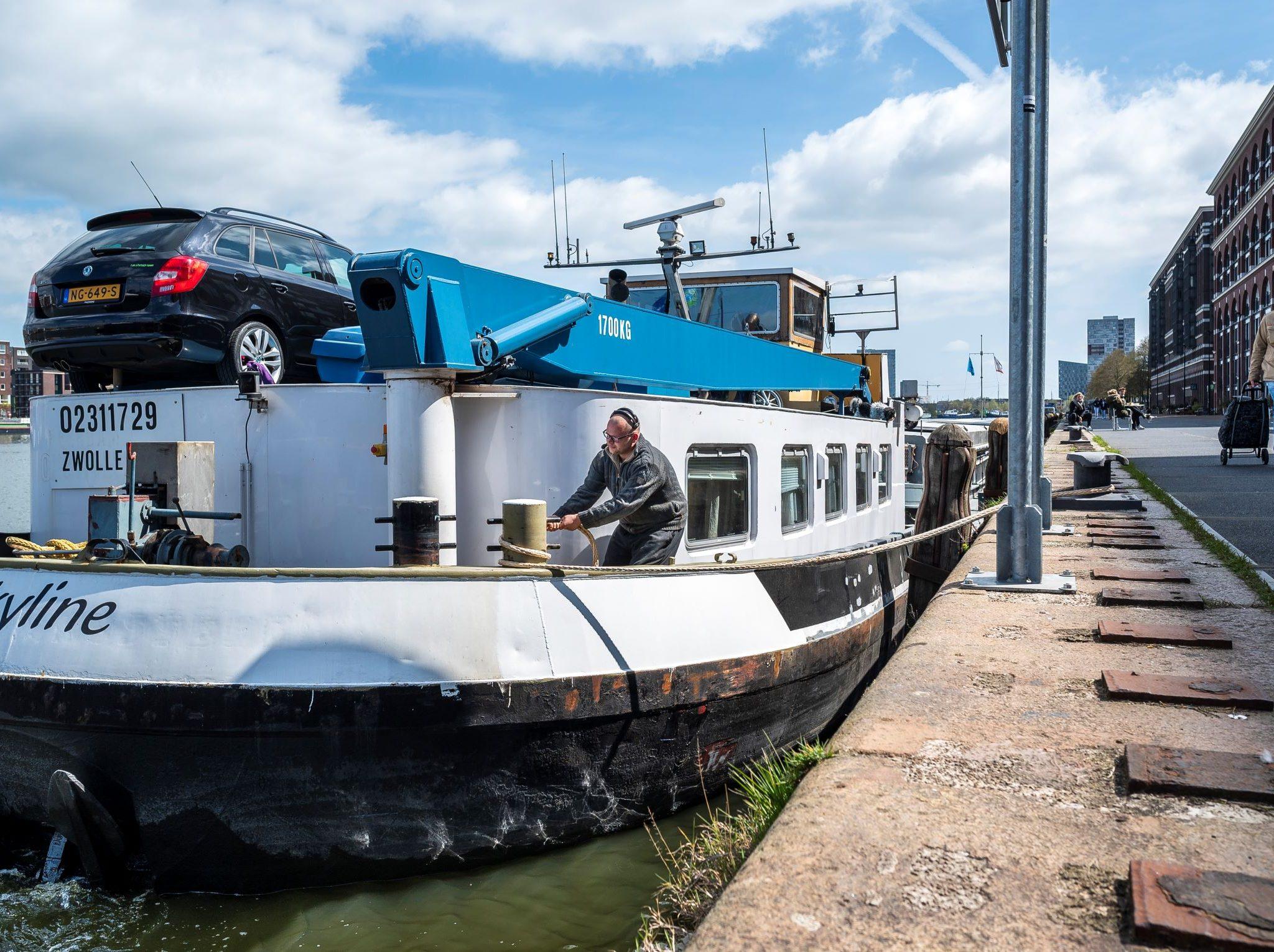 Binnenvaartschepen mogen niet meer 7 dagen, maar vier weken blijven liggen (Foto Port of Amsterdam)