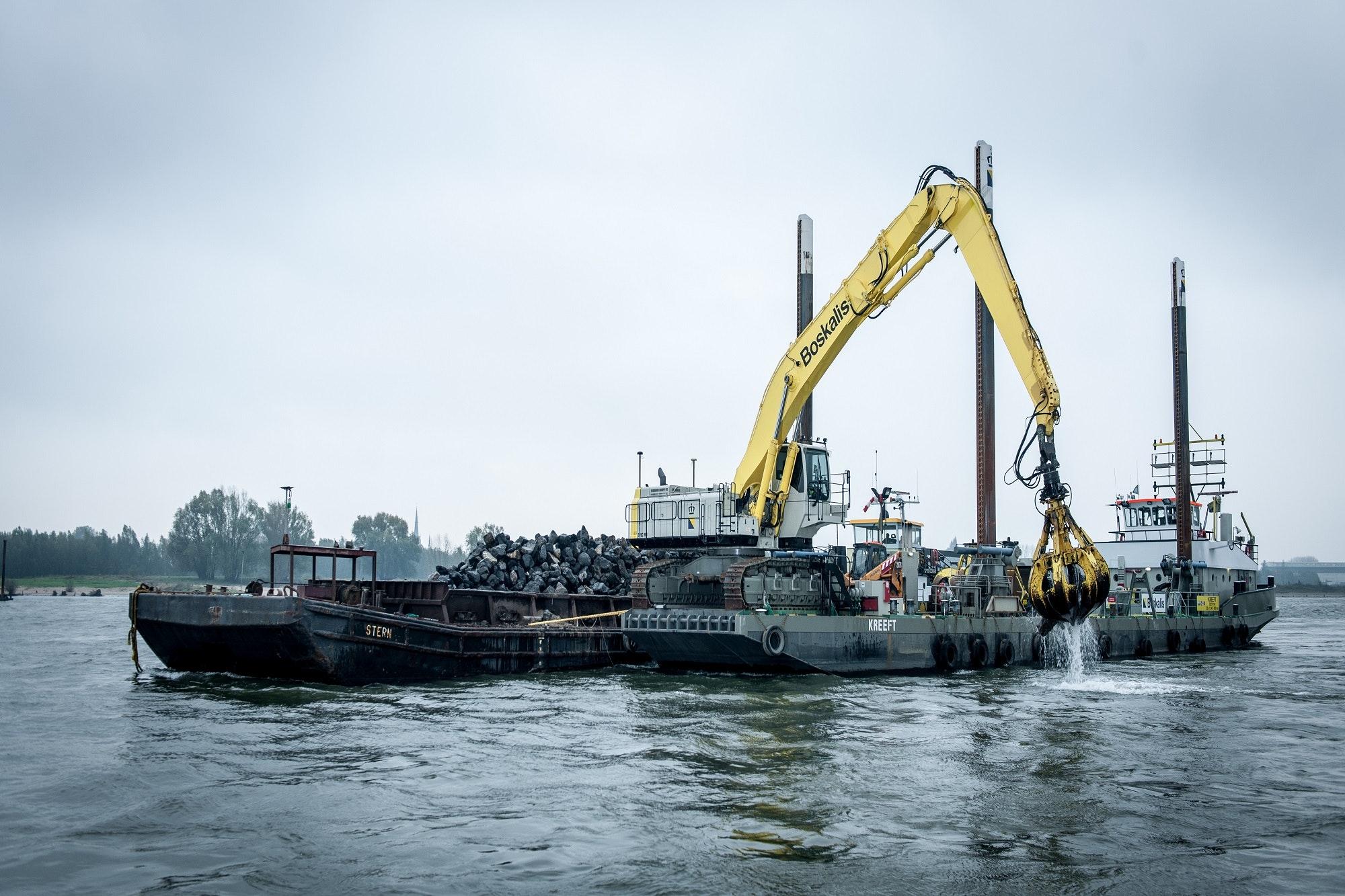 Boskalis kreeg begin dit jaar te horen dat ze de aanbesteding hadden gekregen van Rijkswaterstaat (Foto Rijkswaterstaat)