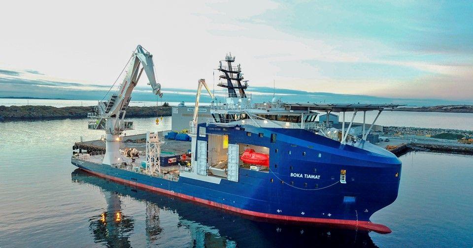De Boka Tiamat werd recentelijk toegevoegd aan de vloot van Boskalis. (Foto Boskalis)