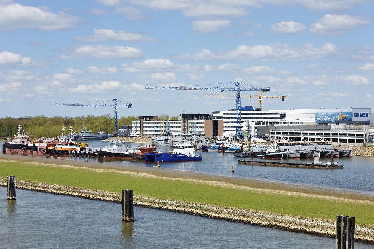 Het hoofkantoor van Damen Shipyards in Gorinchem. Foto Damen.
