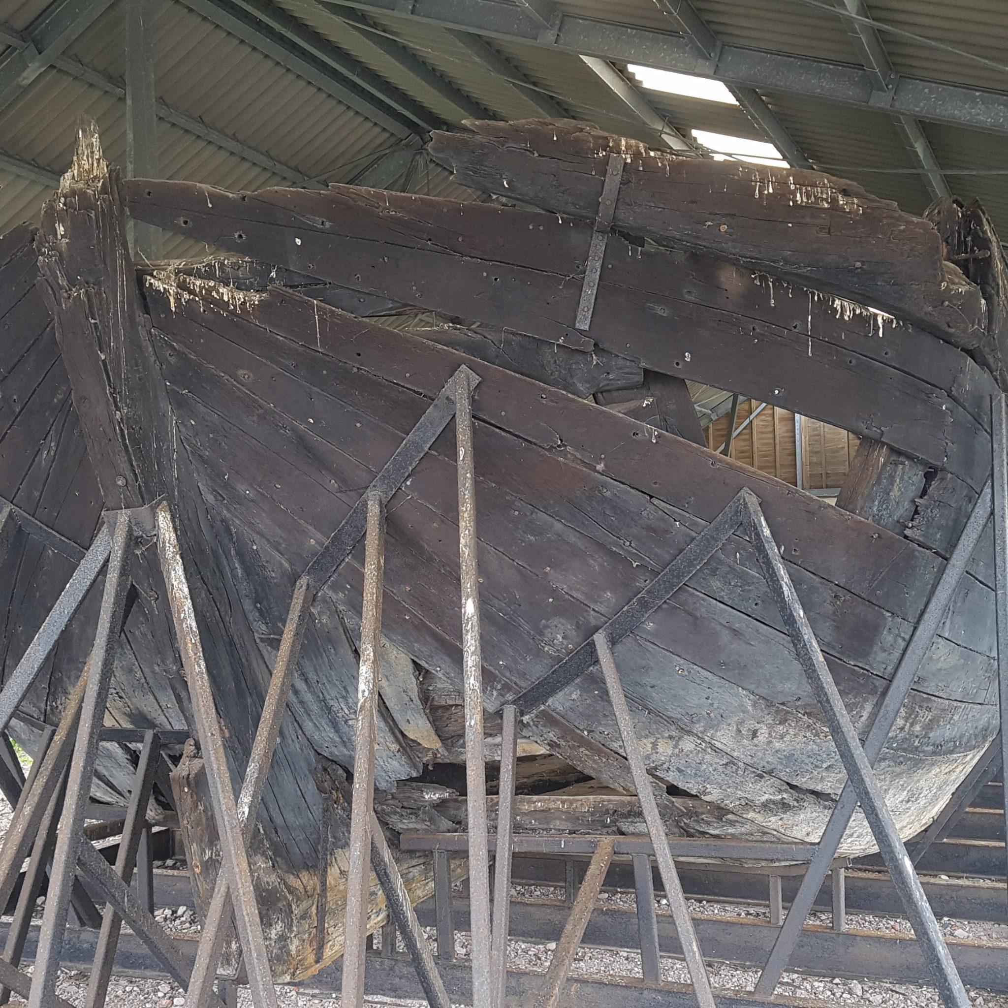 Het scheepswrak dat tot voor kort De Zeehond werd genoemd (Foto Yftinus van Popta)