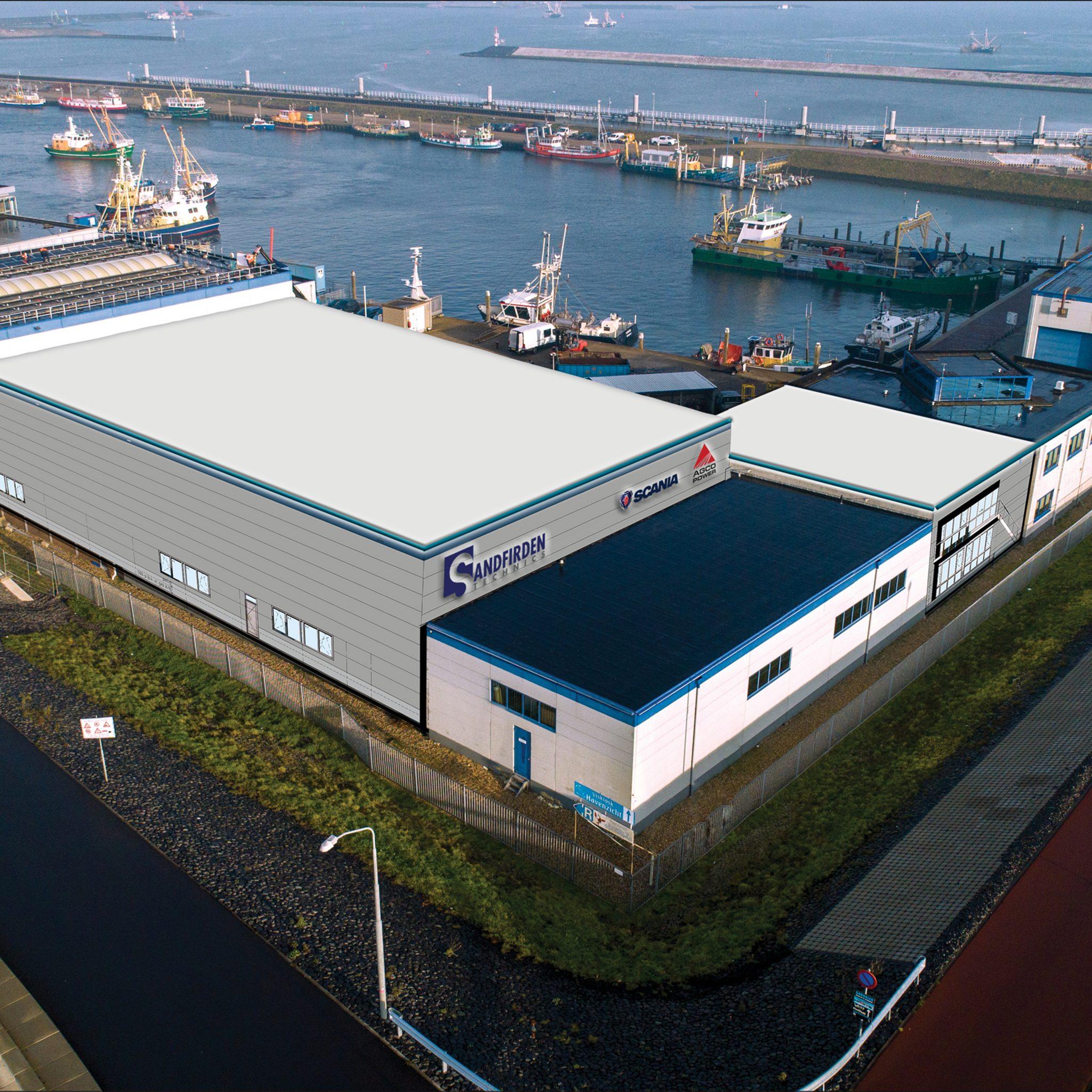 Afgelopen jaar heeft Sandfirden de oude productiehal in Den Oever in het geheel vervangen door een compleet nieuwe.