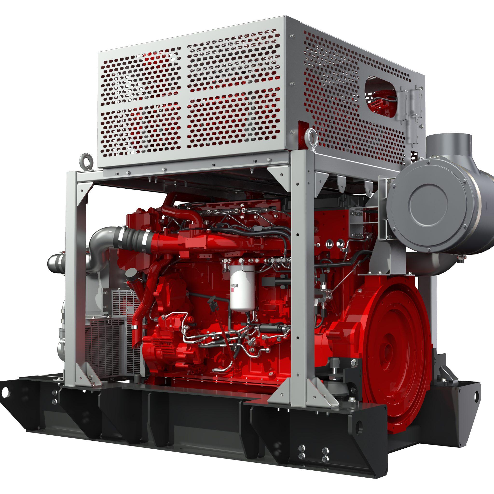 De X15 is een door Cummins gemariniseerde industriemotor en levert maximaal 505 kW. Het complete nabehandelingssysteem is naar wens van de klant naast of bovenop de motor gemonteerd. (Foto's Cummins)