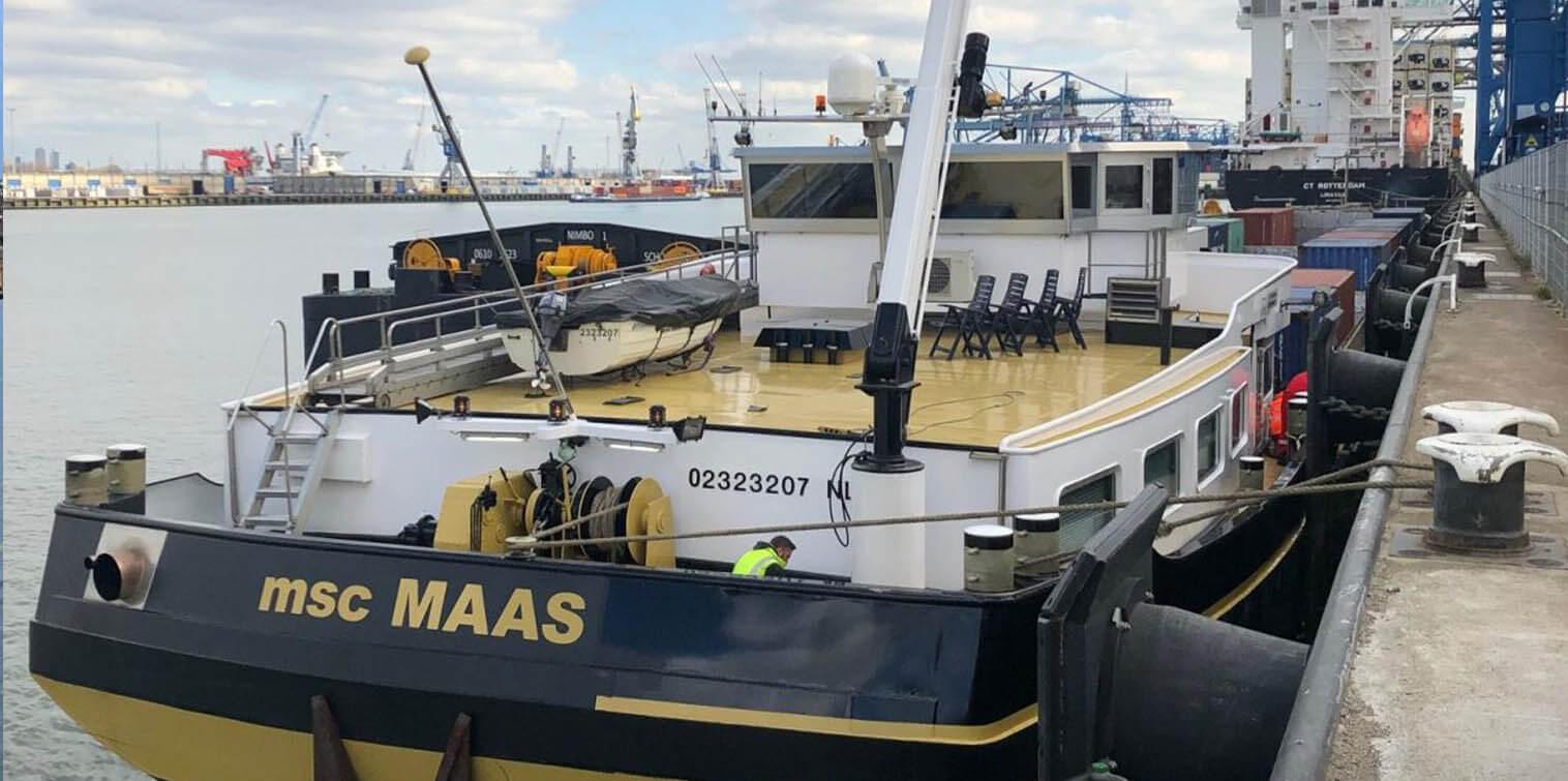 Future Proof Shipping komt praten over het inbouwen van waterstofcellen in het binnenvaartschip Maas. (Foto Future Proof Shipping)