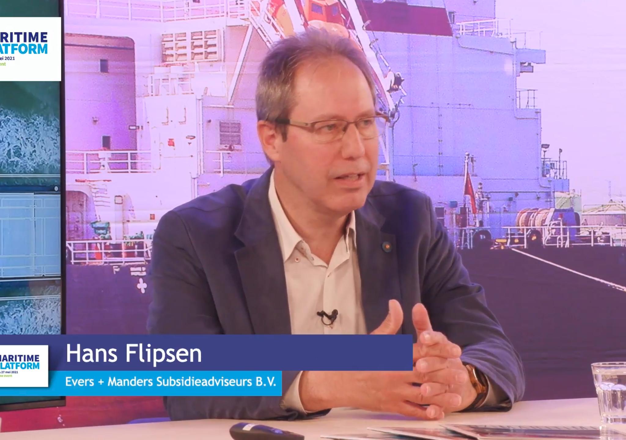 Subsidieadviseur Hans Flipsen was te gast bij Maritime Platform 2021