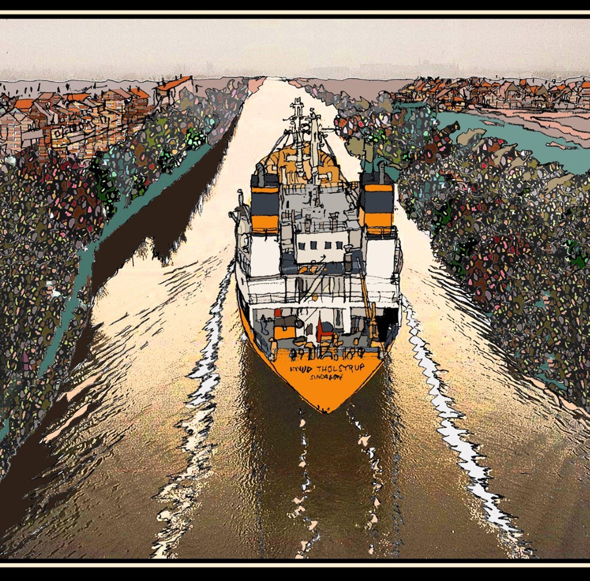 Het Manchester Ship Canal zou het al bestaande, maar veel kleinere, Bridgewater Canal kruisen. Hiervoor werd een draaibaar aquaduct uitgevonden, voor zover bekend het enige ter wereld.