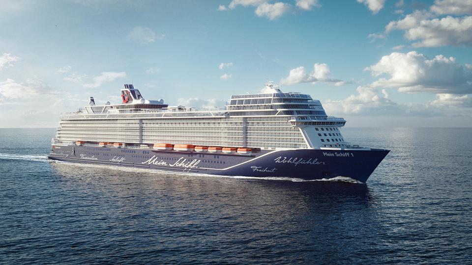 Vooral Duitsers krijgen plek op het cruiseschip Mein Schiff 1. (Foto TUI)