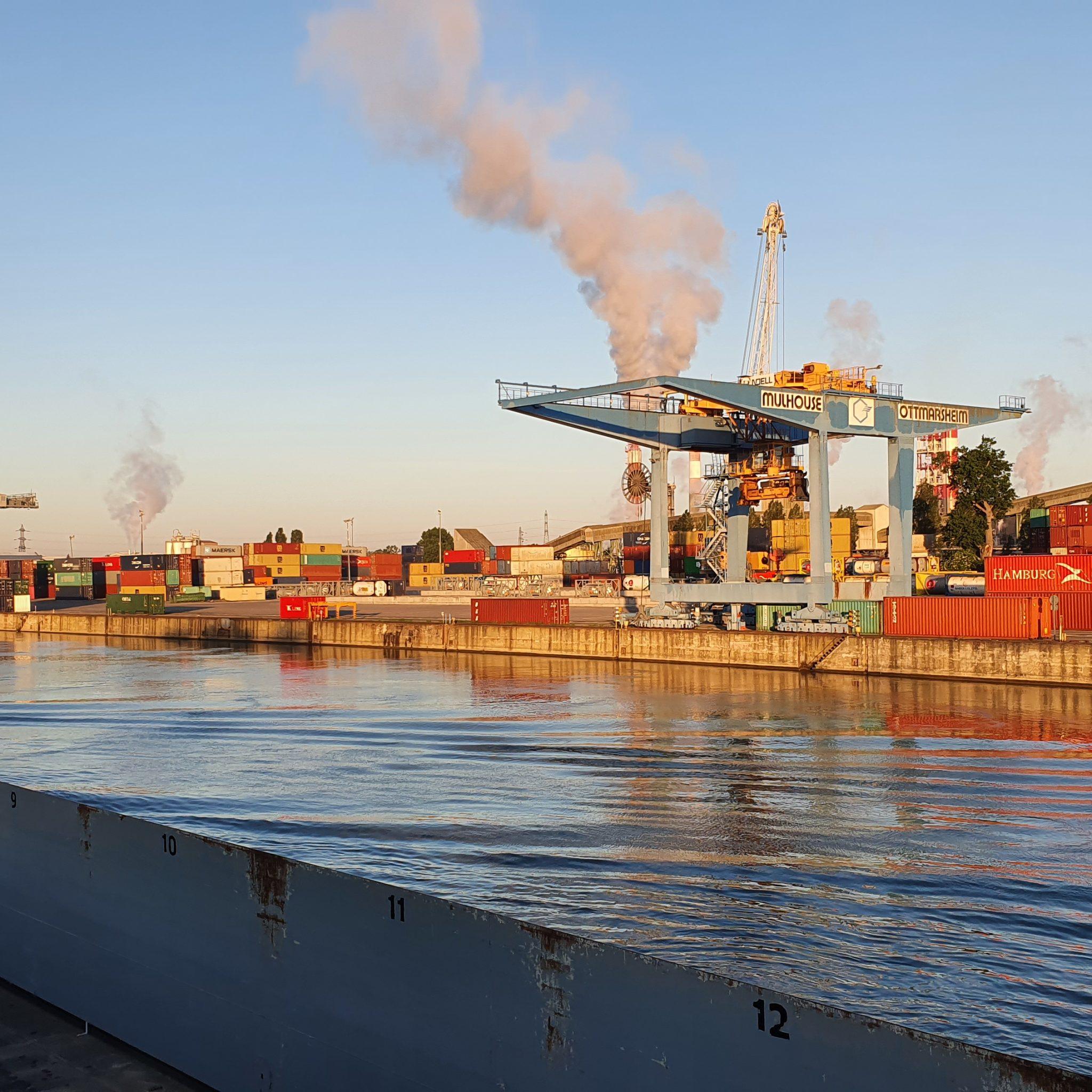 DP World en Swissterminal kopen grote belangen in de regio Elzas, zoals de haven van Ottmarsheim.