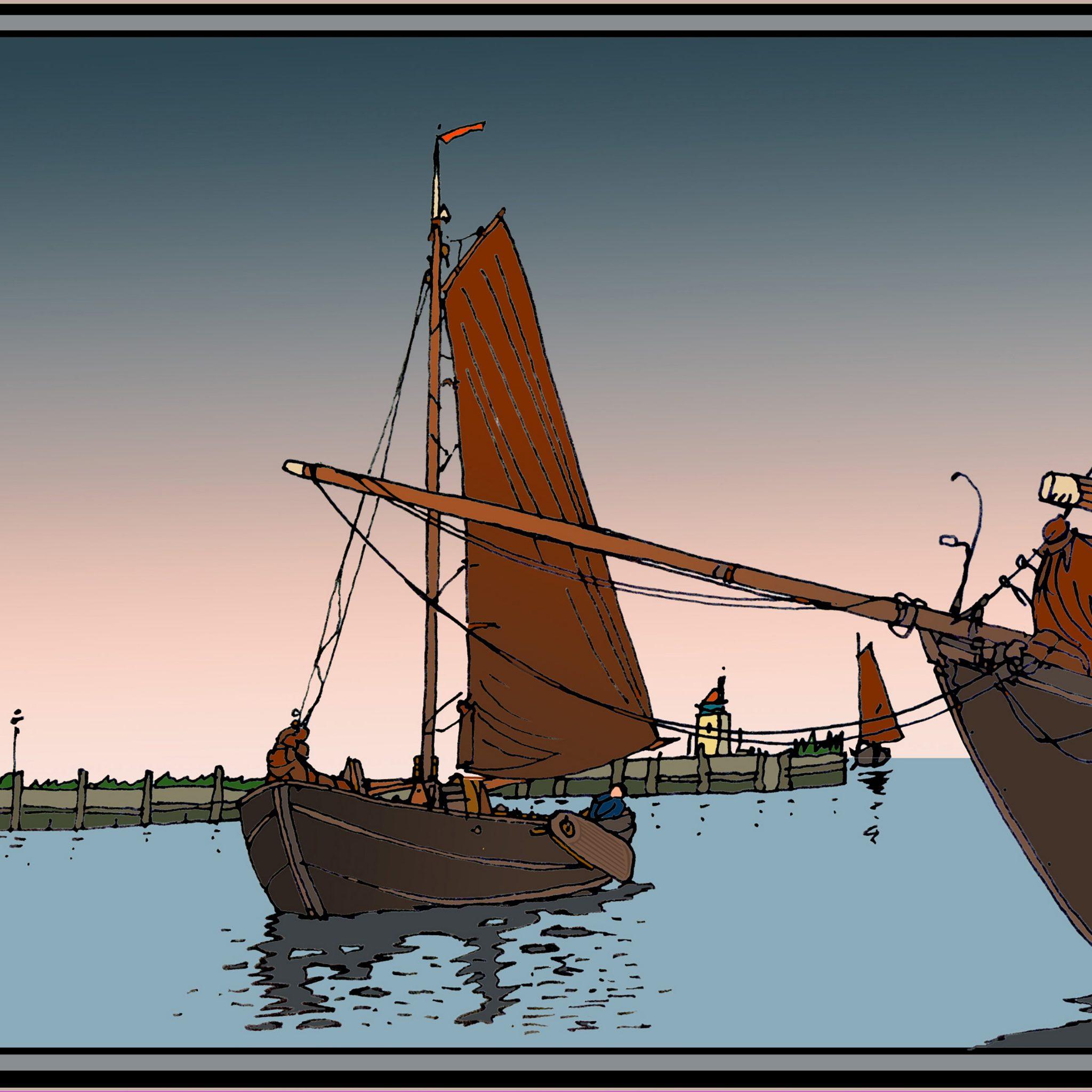 De in de 11e eeuw door Nederlanders in Noord-Duitsland ingevoerde ewer, heeft in de visserman-uitvoering vaak een bun.
