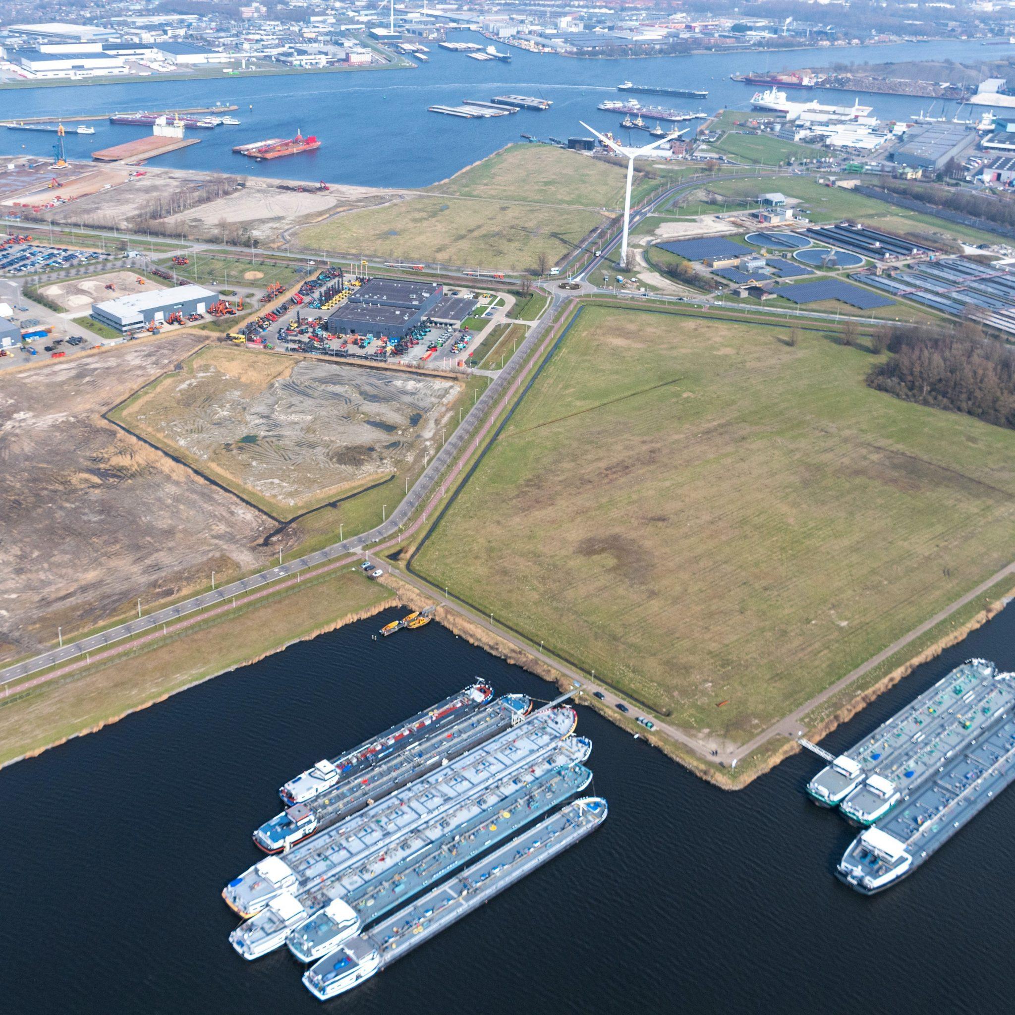 Het BioPark in Amsterdam, hier komt de nieuwe fabriek. (Foto Port of Amsterdam)