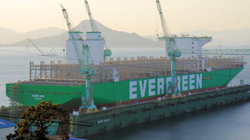 De Ever Ace in aanbouw (Foto Shipspotting.com)
