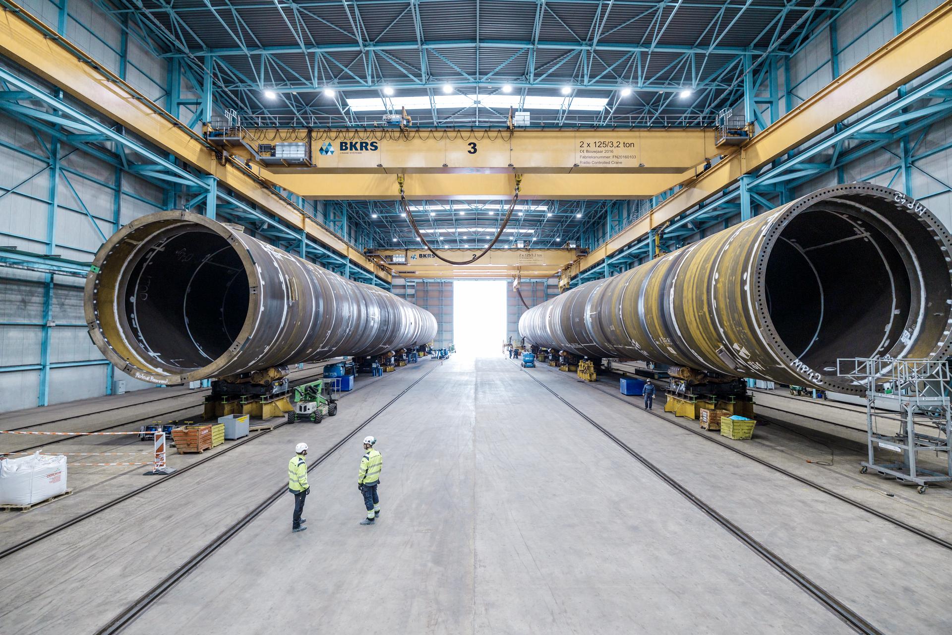 Het is het eerste windpark dat subsidieloos wordt gebouwd. (Foto Vattenfall)
