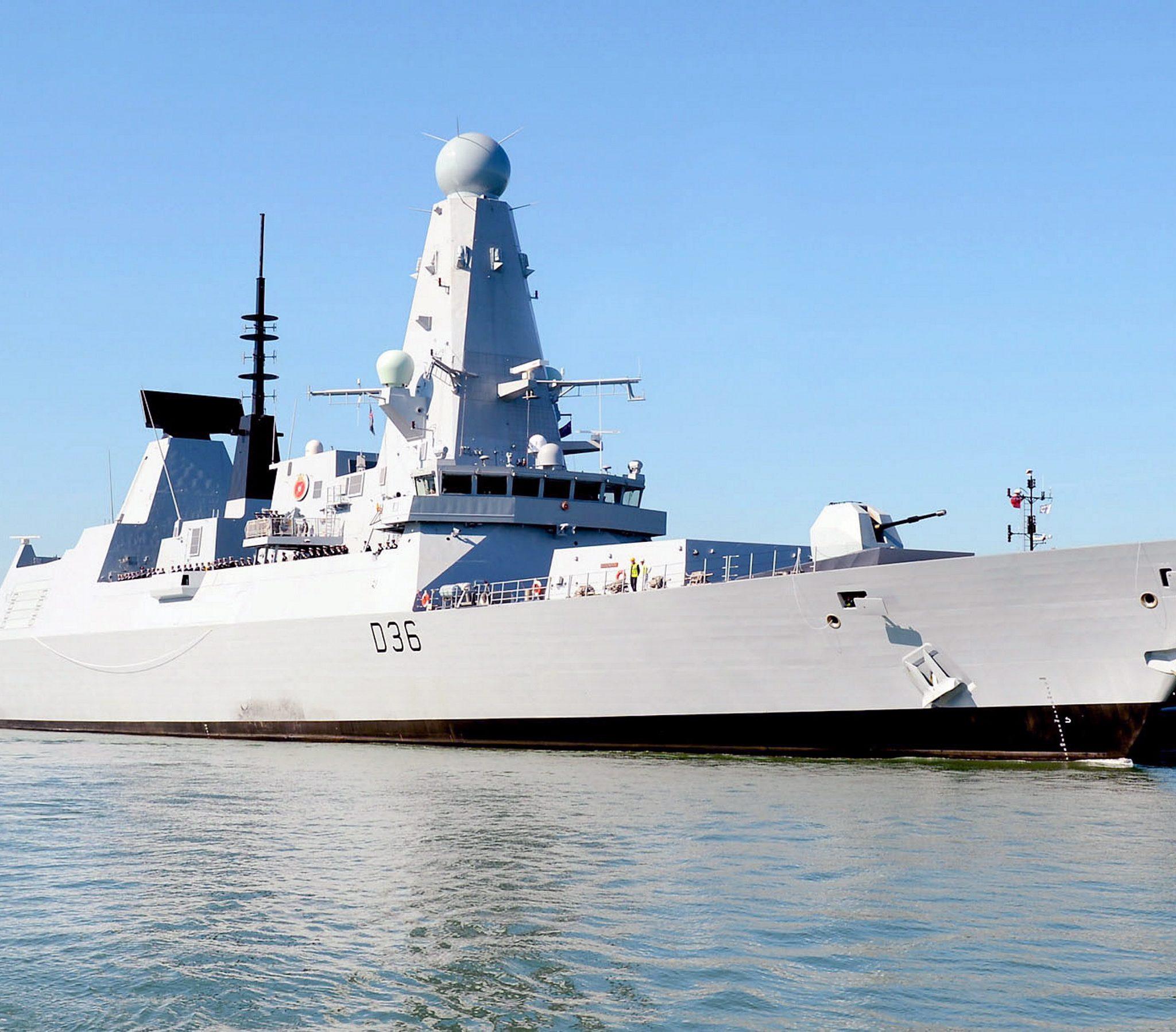 De torpedobootjager in kwestie: de HMS Defender. (Foto Wikipedia)