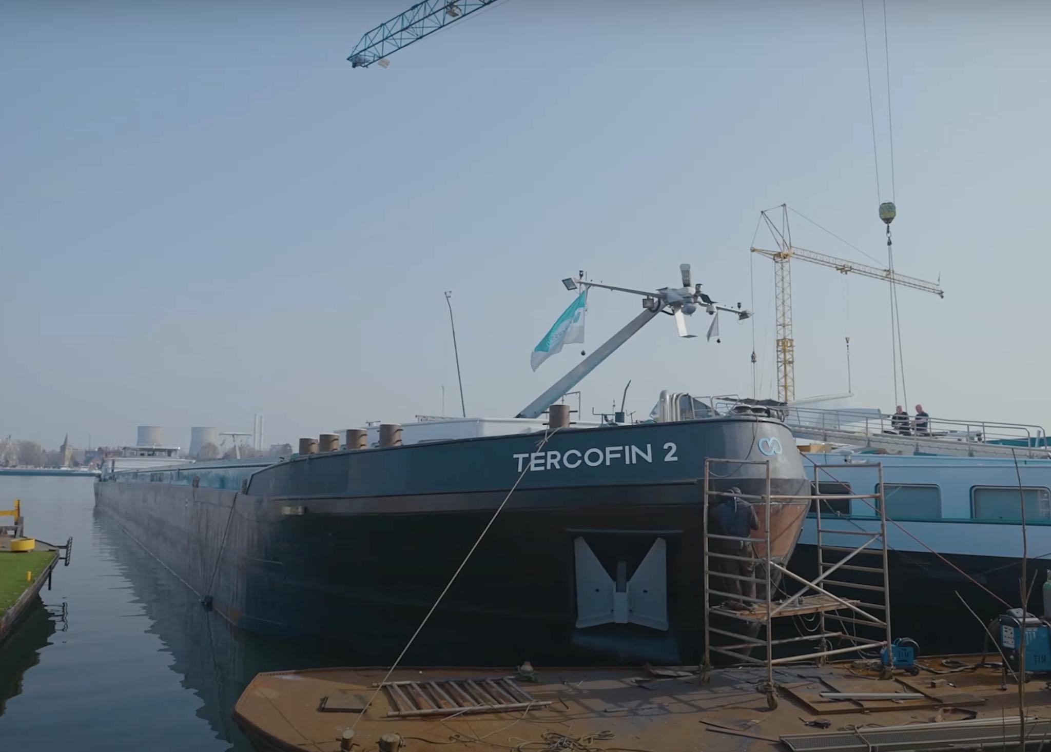De Tercofin 2 vaart sinds kort 2 keer per week van Luik naar Antwerpen. (Foto Seafar)