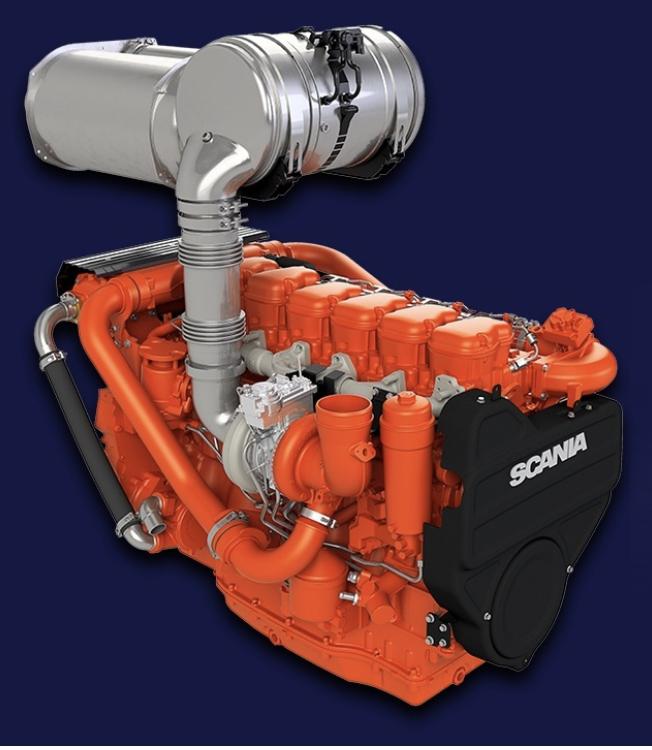 Scania Stage 5 motor marin binnenvaart