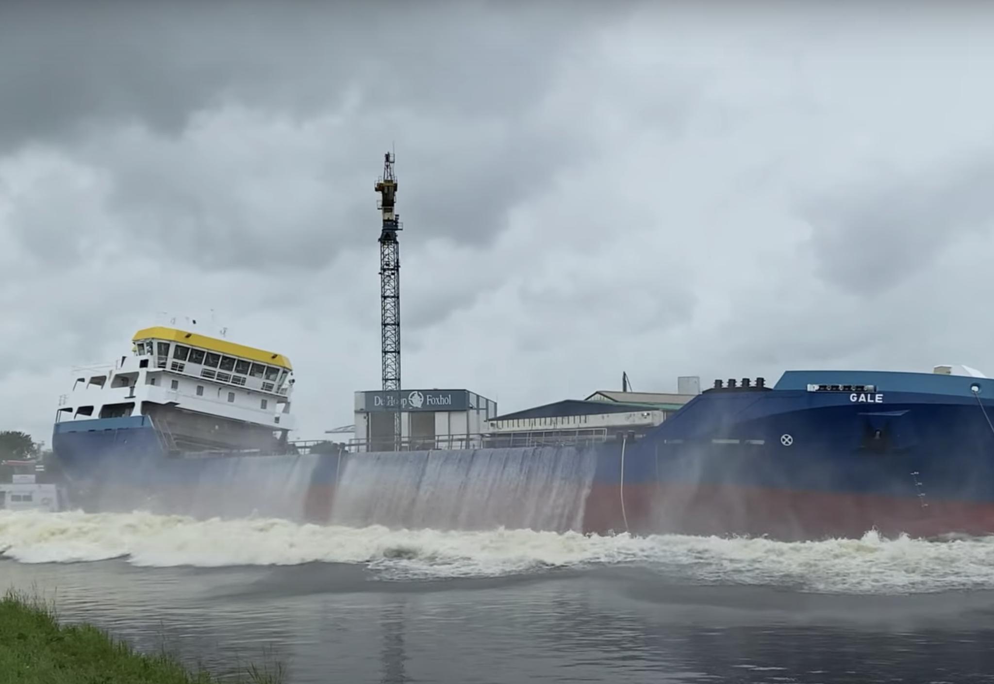 Centraalstaal werkte mee aan de bouw van het schip Gale. Foto: Youtube