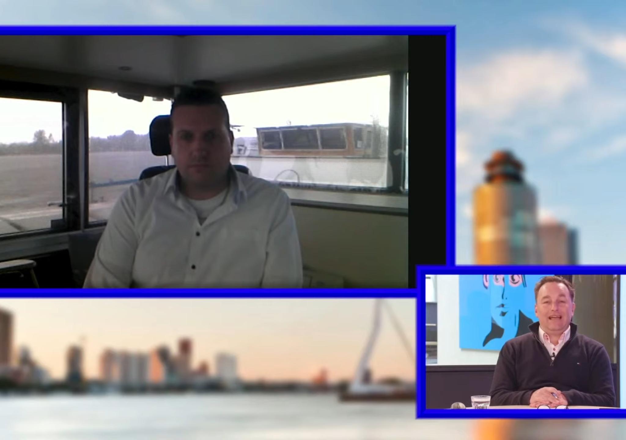 Robin Vermeeren en René Quist in gesprek tijdens Maritime Platform 2021