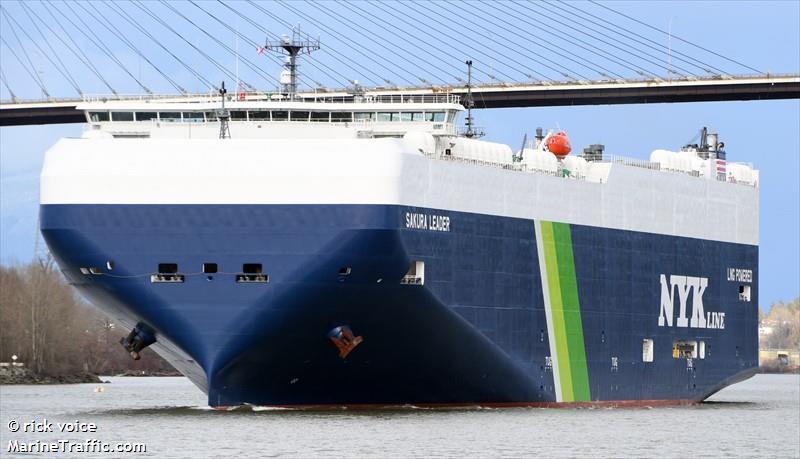 De Sakura Leader. (Foto Marine Traffic)
