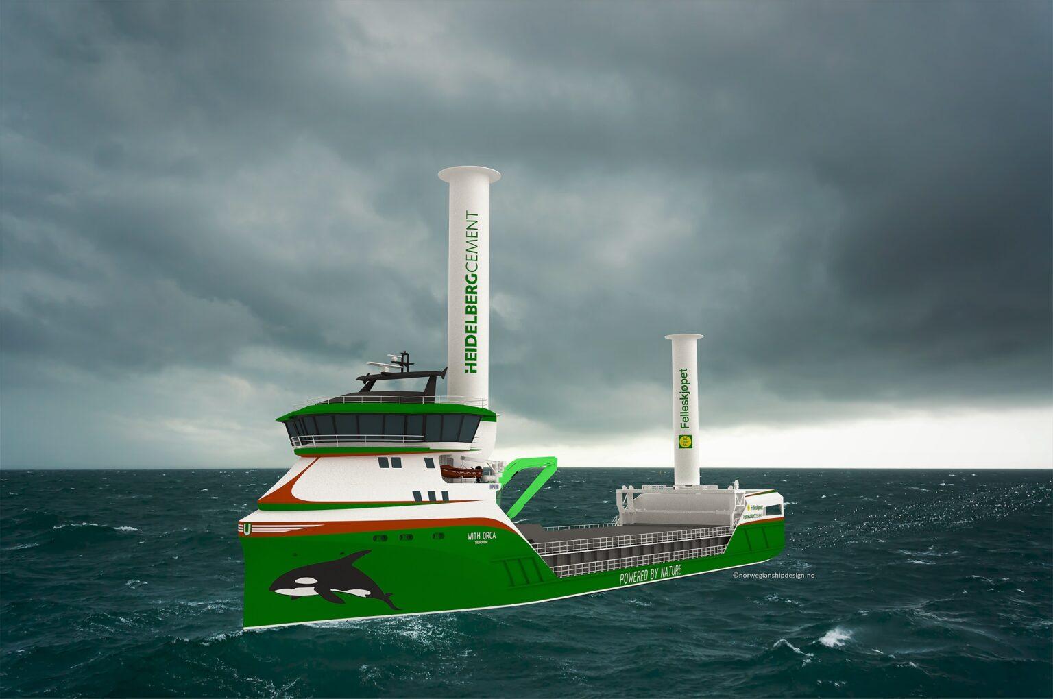 Het nieuwe zeeschip voor Heidelberg Cement. (Beeld Heidelberg)