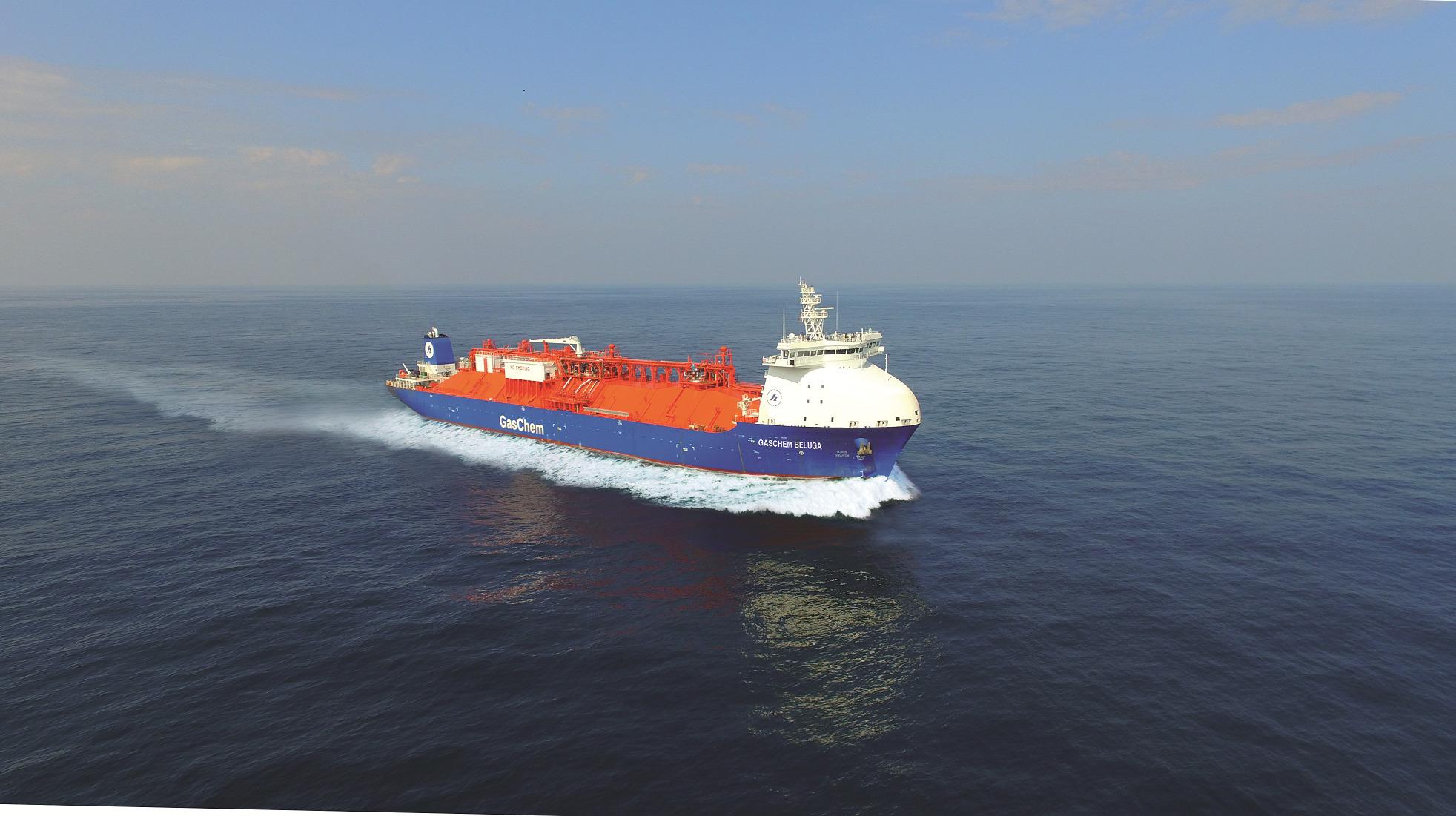 Naast deze order en de drie schepen die Hartmann in april bestelde wordt op de Chinese DSIC Offshore-werf gebouwd aan een Very Large Gas Carrier met een capaciteit van 83.480 m3. (Beeld Hartmann)