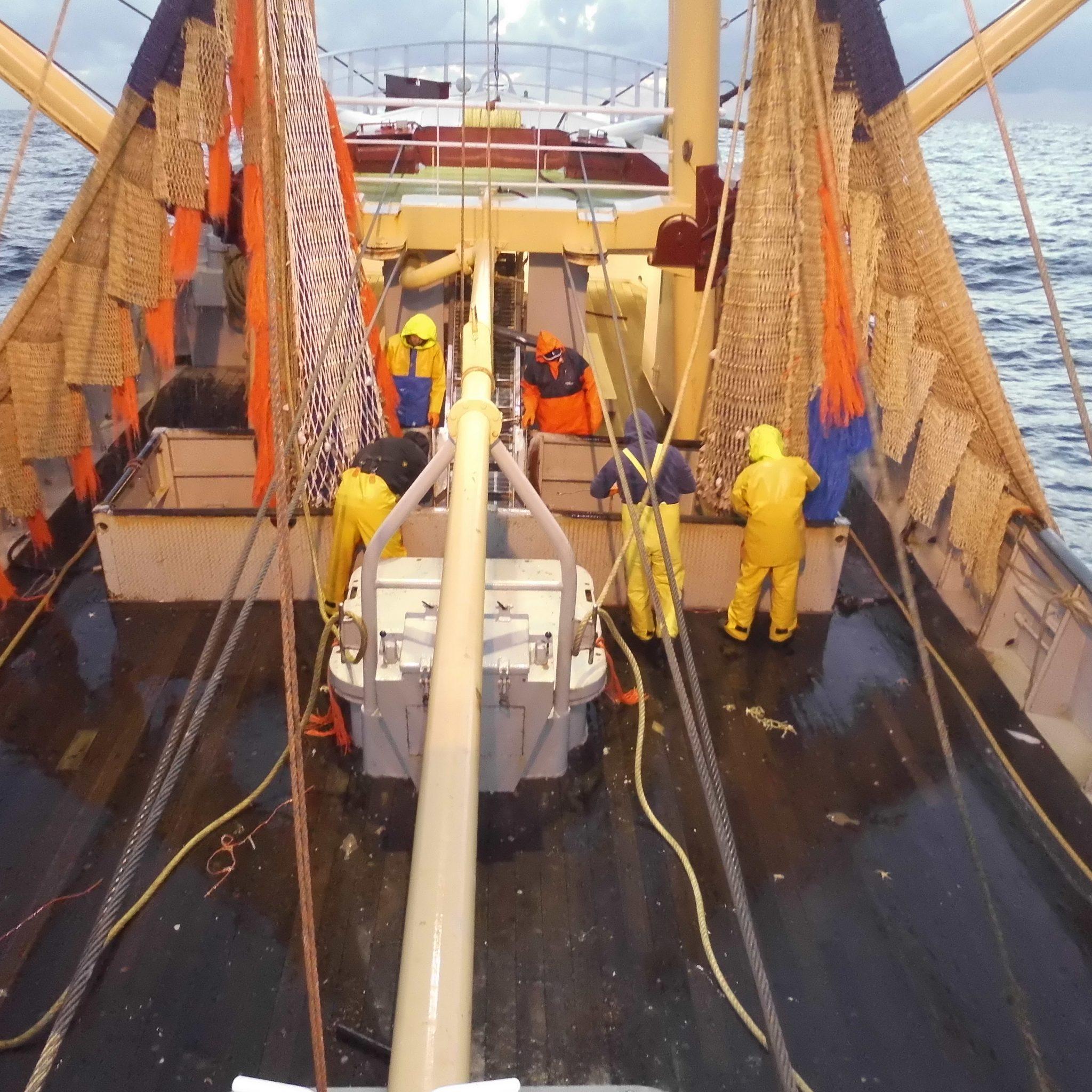 Het Europees Parlement heeft in meerderheid geen sympathie voor de visserij met sleeptuigen over de bodem. (Foto W.M. den Heijer)