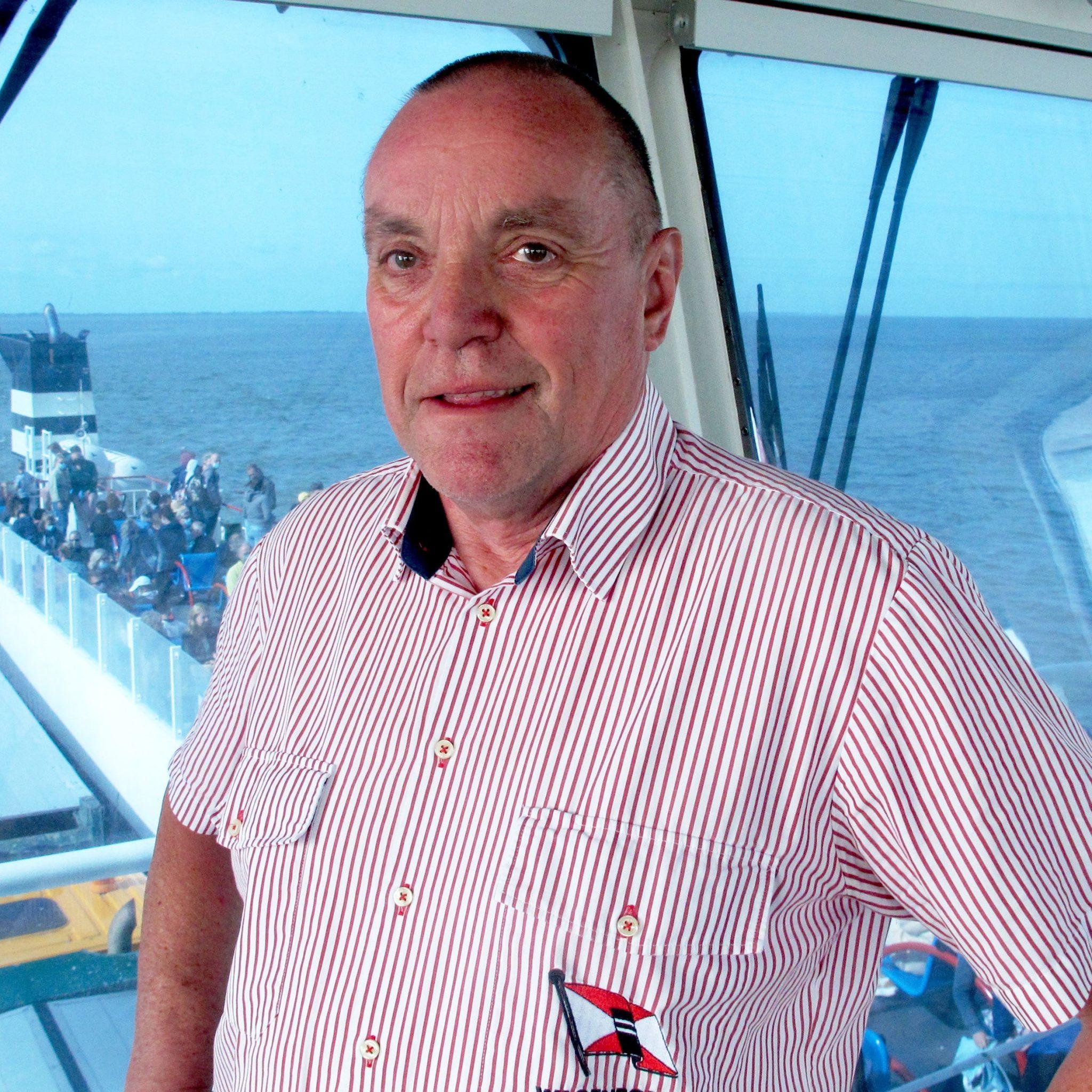 Reinder van der Boor zegt in eerste instantie nee op de vraag of hij weleens op Schiermonnikoog is geweest. (Foto Henk Zuur)