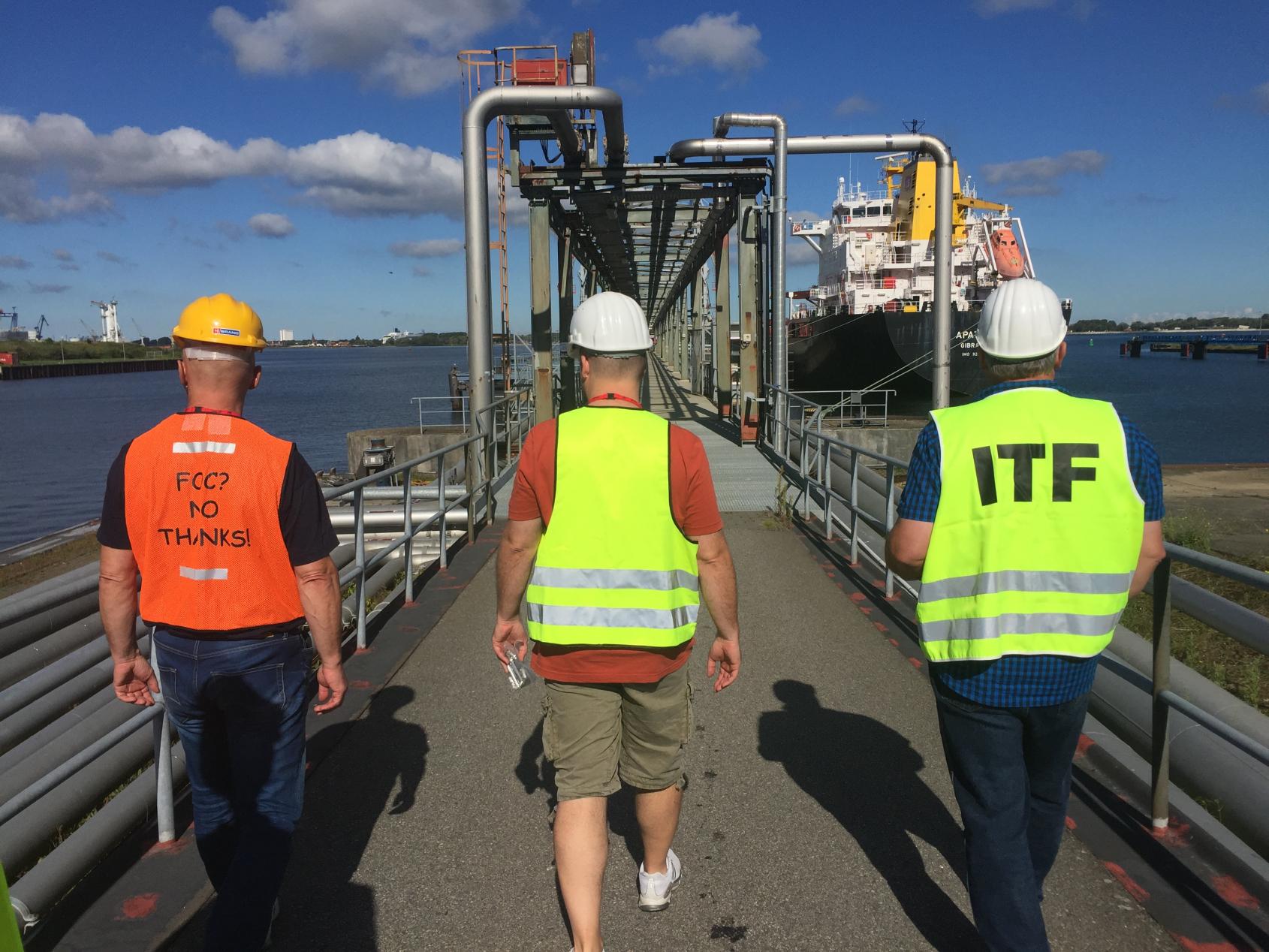 Inspecteurs van de ITF hebben miljoenen aan achterstallig loon teruggehaald voor zeevarenden. (Foto ITF)