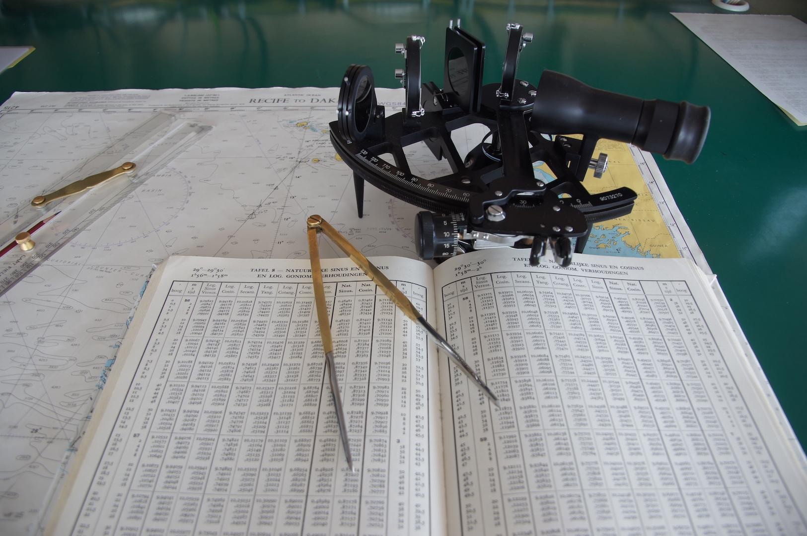 De sextant: een relikwie uit het verleden.