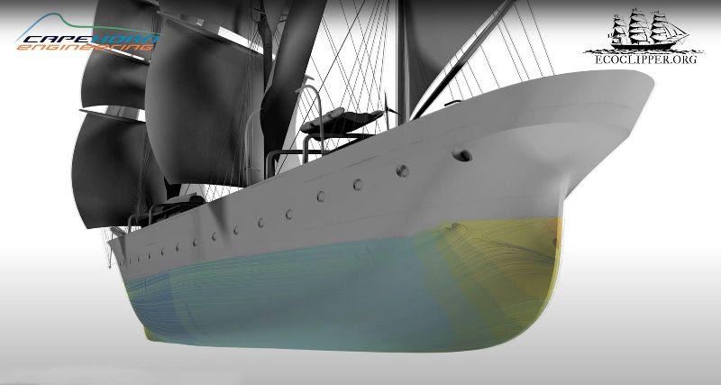 Het nieuwe rompontwerp van de EcoClipper500. (Foto EcoClipper)