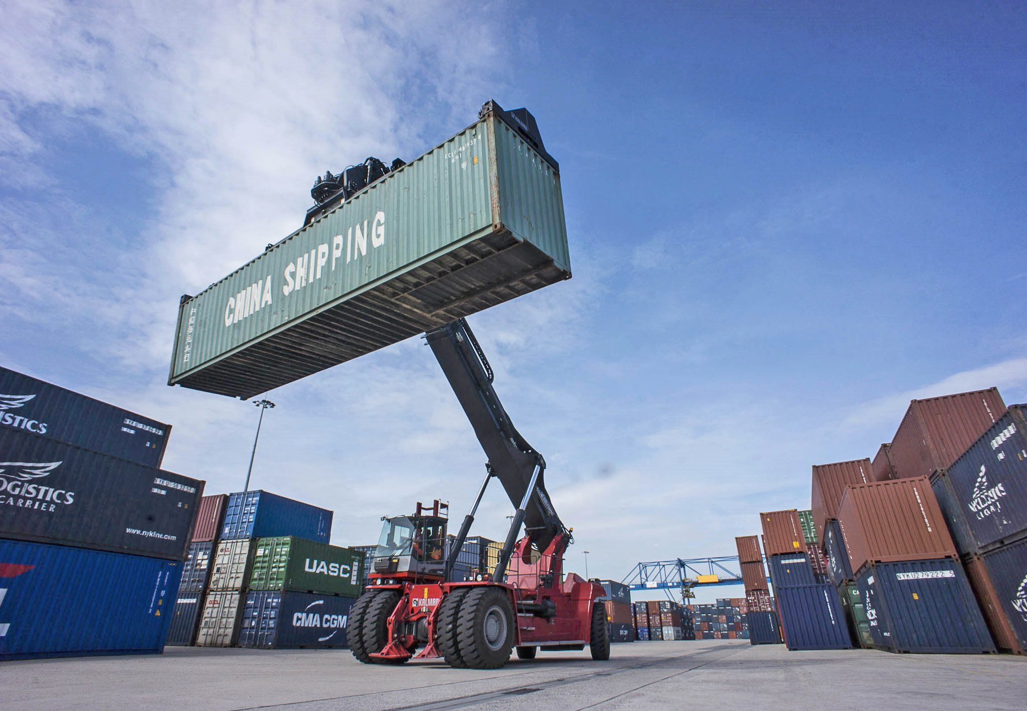 Ook in Duisburg blijft het containervervoer hard stijgen. (Foto Frank Reinhold)