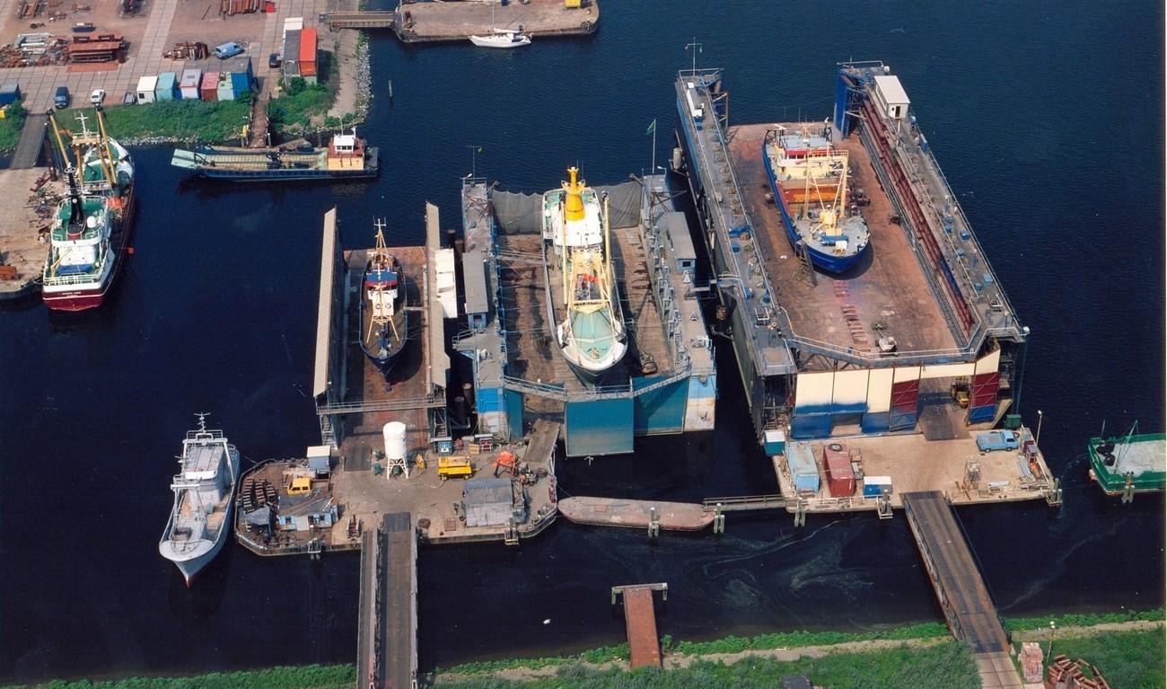 De scheepswerf Damen Maaskant Shipyards is een van de scheepswerven in Stellendam die opdrachten misloopt. (Foto Damen)