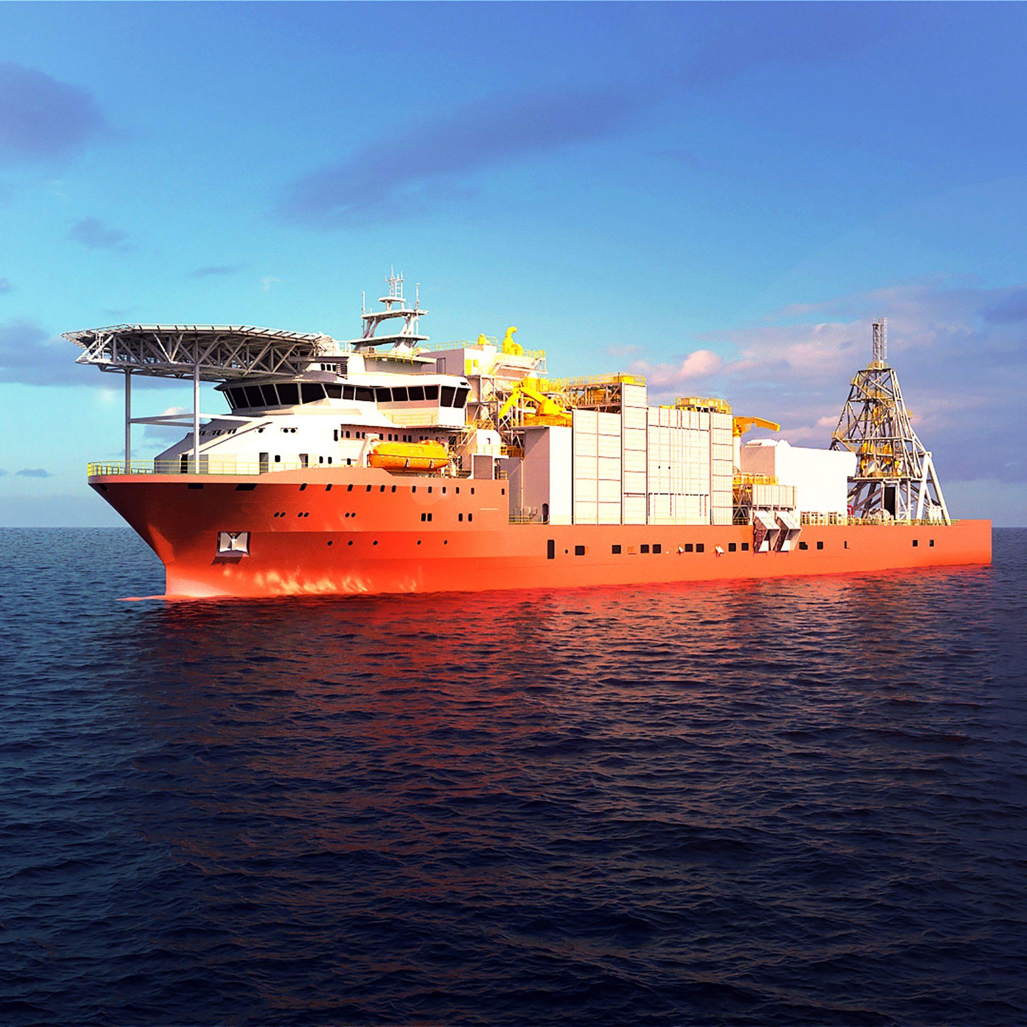 Het 177-meter lange schip is de grootste van zijn soort. (Foto Alewijnse)