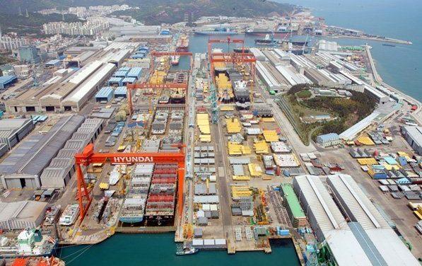 Hyundai Heavy Industries ontving orders voor duurdere schepen. (Foto Hyundai)