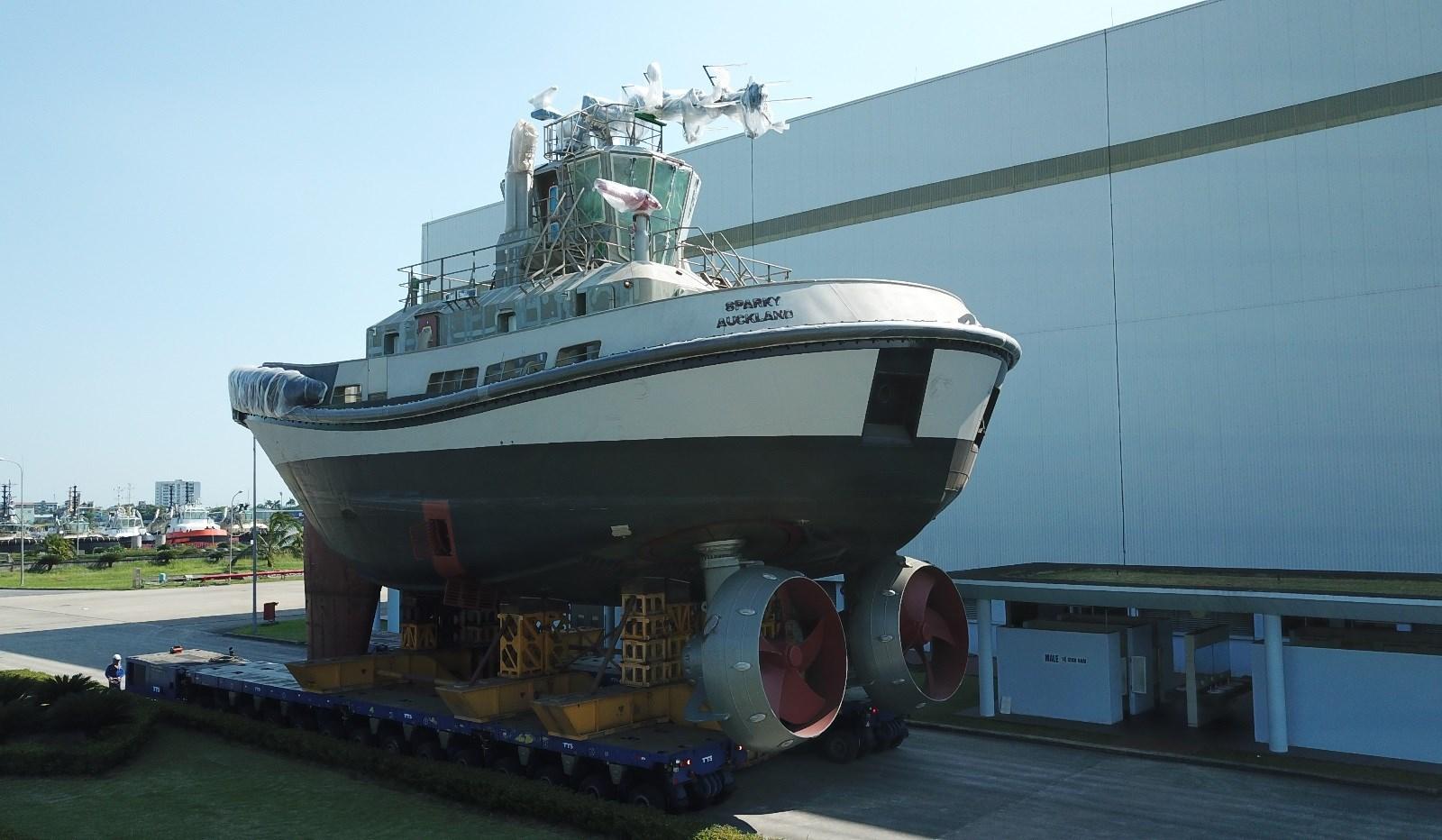 Zo zag de Sparky eruit vlak na de batterij-installatie, maar voor de verfbeurt. (Foto Damen Shipyards)