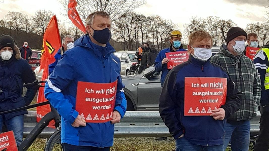 In januari werd nog geprotesteerd door personeel van de werf. (Archieffoto)